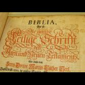 Bible, Martin Luther , 1765 Nurnberg   Thick Folio German Bible printed in Nurnberg, Germany in 1765  Measures about 10 1/2