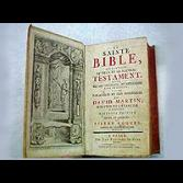 A beautiful French Bible with Hymnal in back